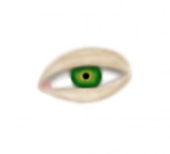 Blanka Wójcik - oko na białym tle namalowane techniką blur