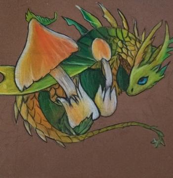 Filip Dzieciuch - smok w trawie