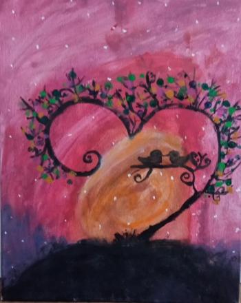 Malwina Kozioł - ptaszki na gałęzi