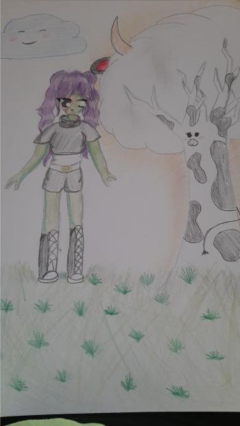 Lena Grudzińska  - dziewczyna zombi i krowa