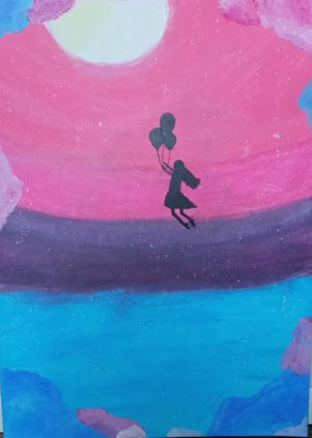 Malwina Kozioł - dziewczynka z balonami