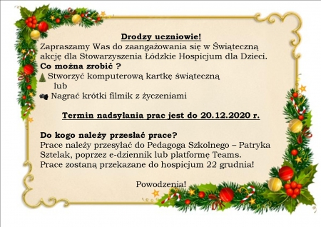 Świąteczna akcja dla Stowarzyszenia Łódzkie Hospicjum dla Dzieci