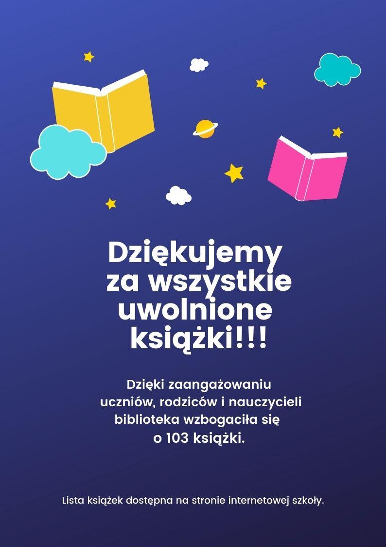 Dziękujemy za wszystkie uwolnione książki!